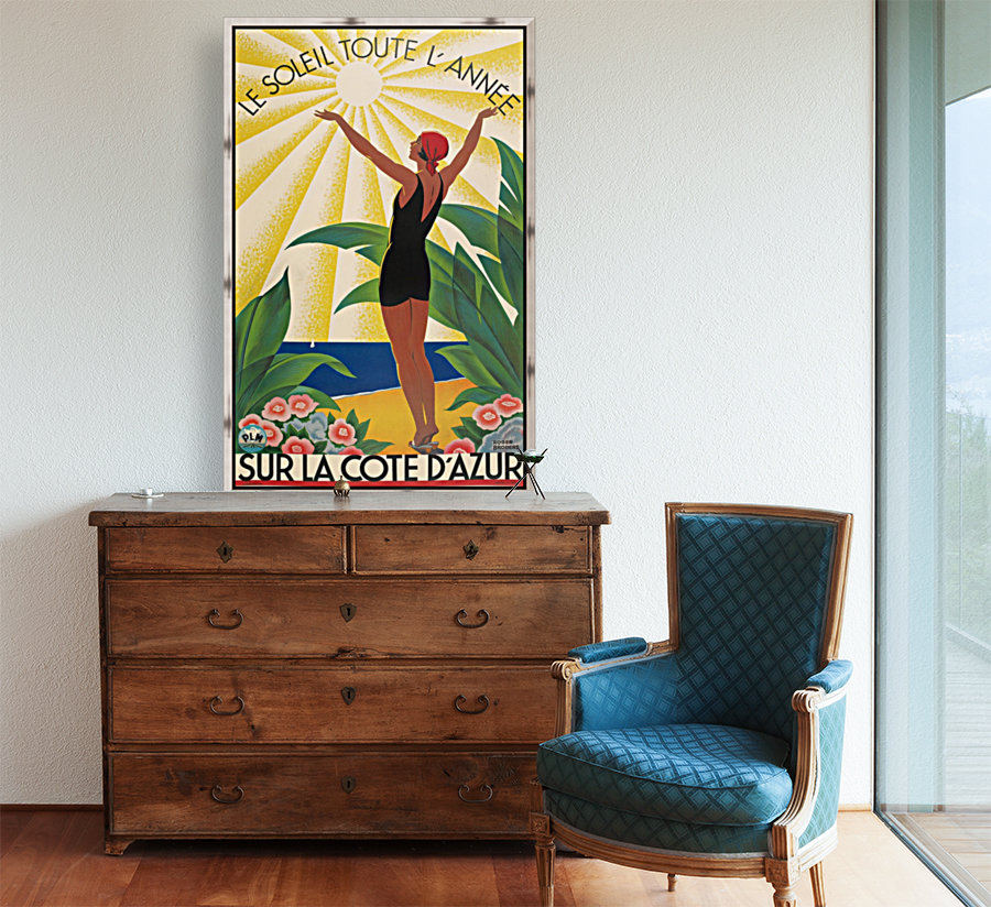 Sun All Year On the Cote dAzur poster in 1931  Art