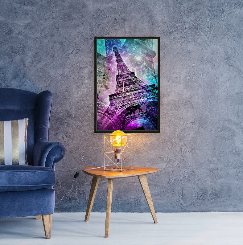 Pop art eiffel tower print pop art eiffel tower art