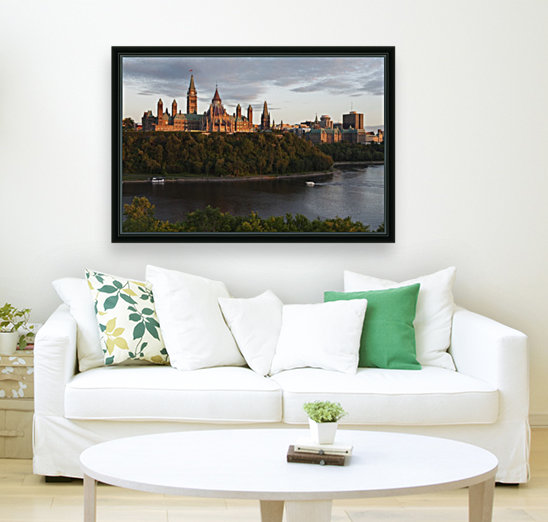 Parliament Hill; Ottawa, Ontario, Canada with Floating Frame