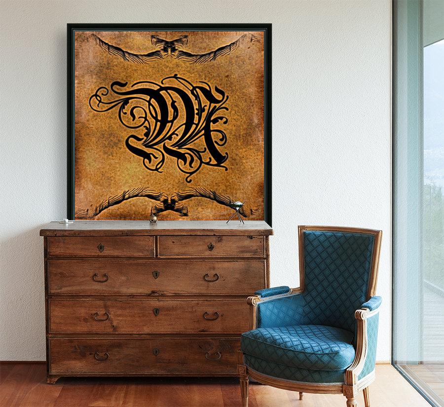 Beautiful Monogram Letter M  Art