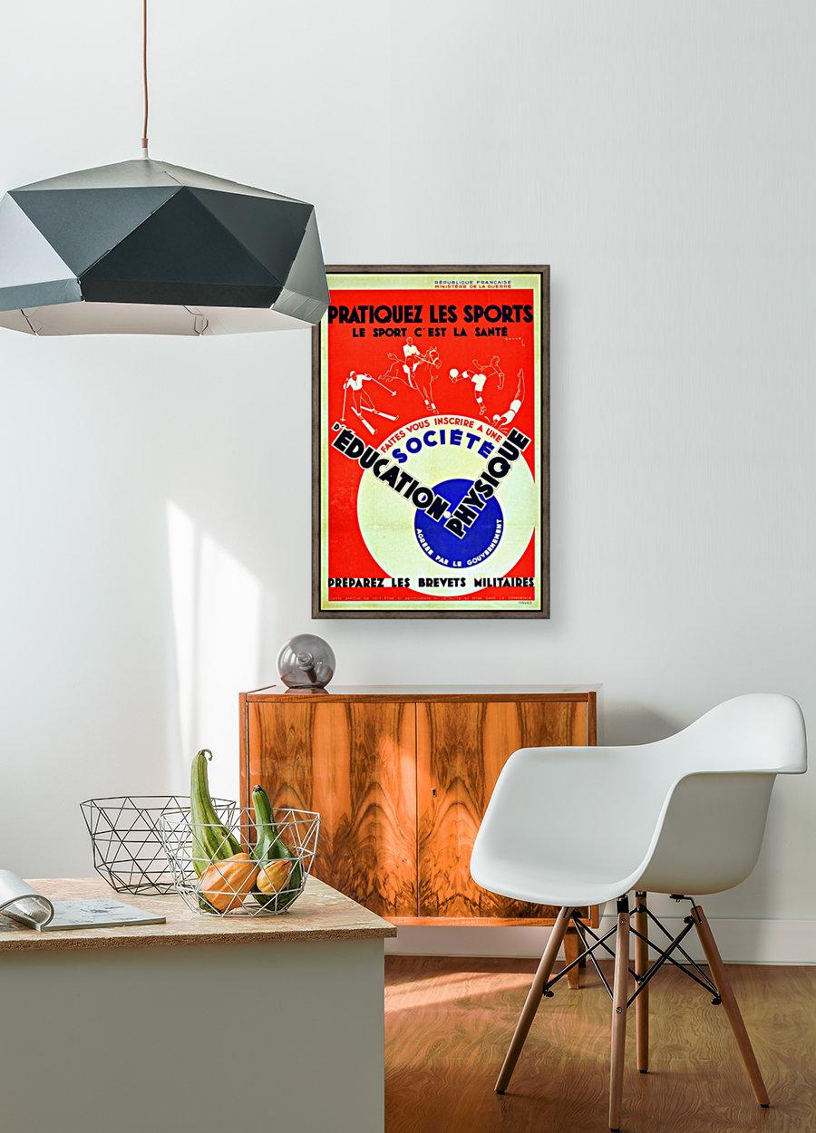 Original 1932 Art Deco Sport Poster  Art