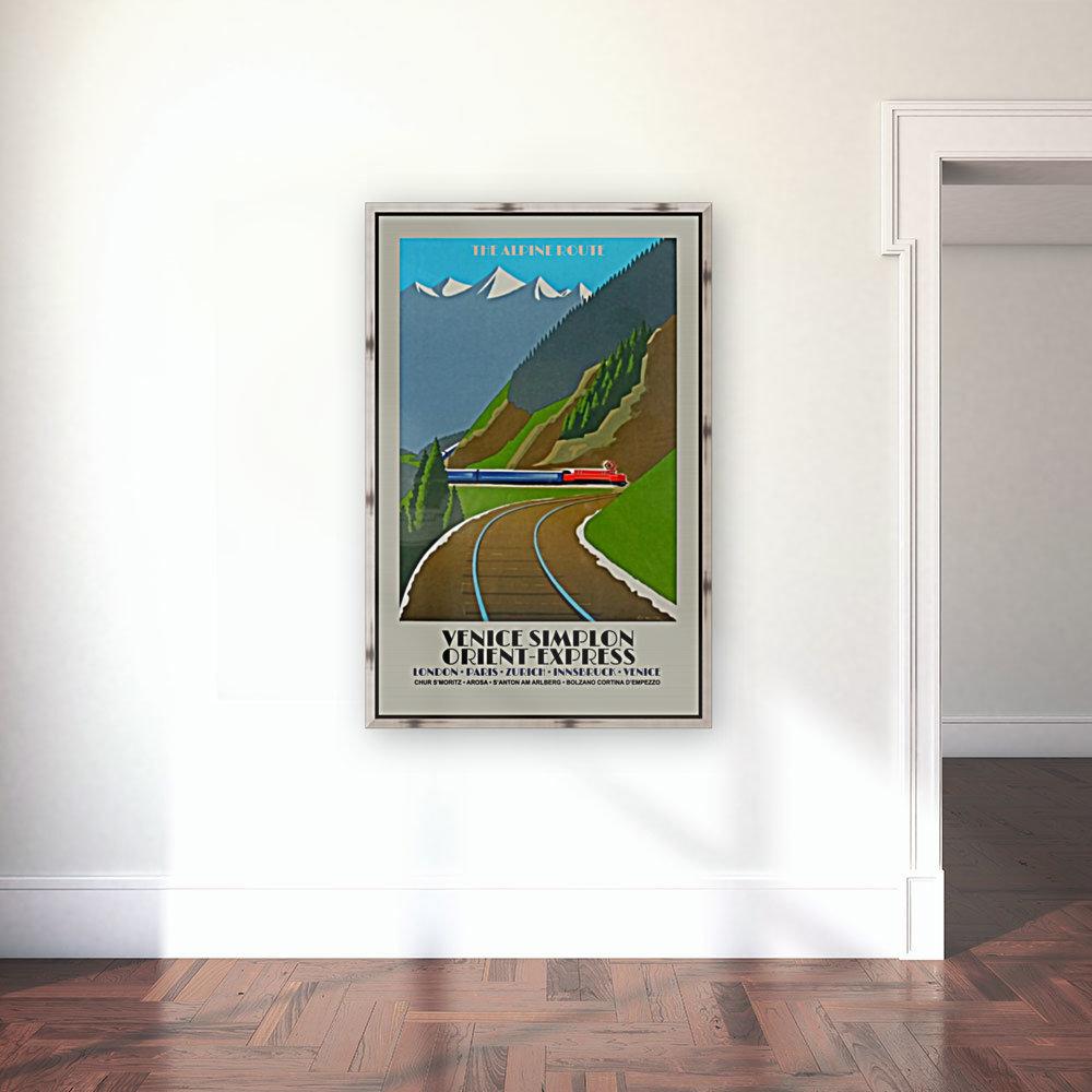 Simplon Orient Express The Alpine Route  Art