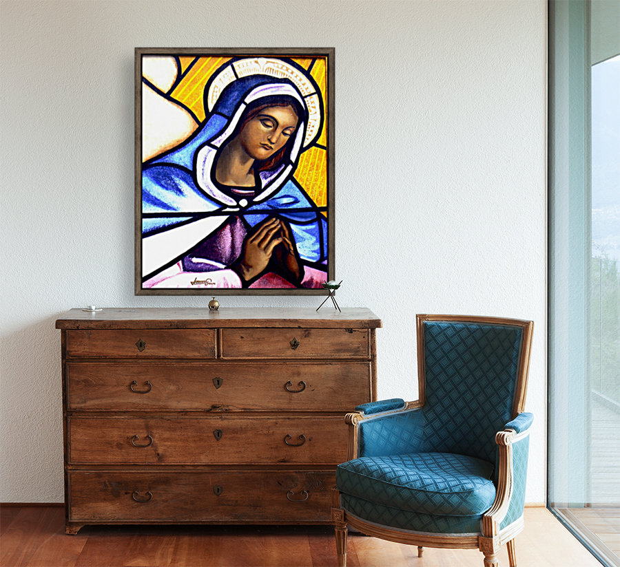 Mary in Glass  Art