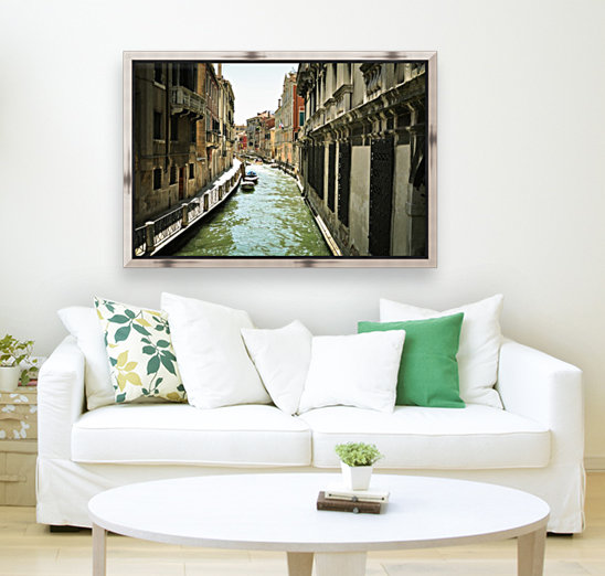 Venice canal with Floating Frame
