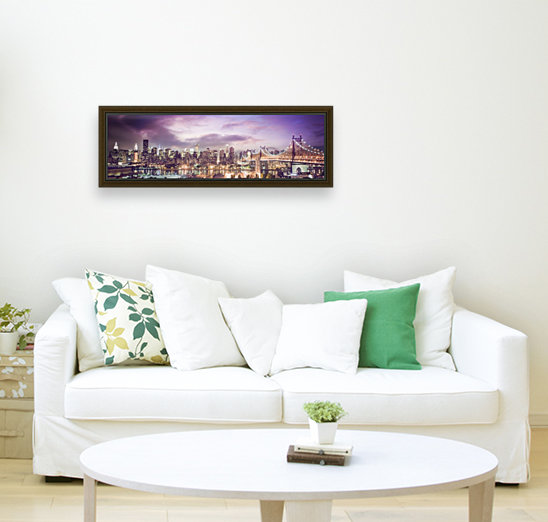 New York Cityscape with Floating Frame