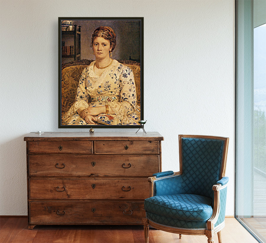Portrait of Mrs J P Heselitine  Art