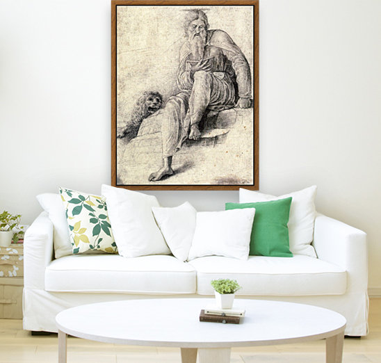 Saint Jerome Reading with the Lion  Art