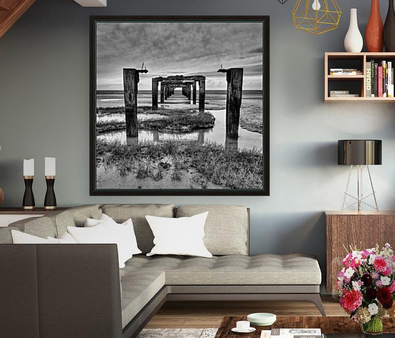 Derelict Pier with Floating Frame