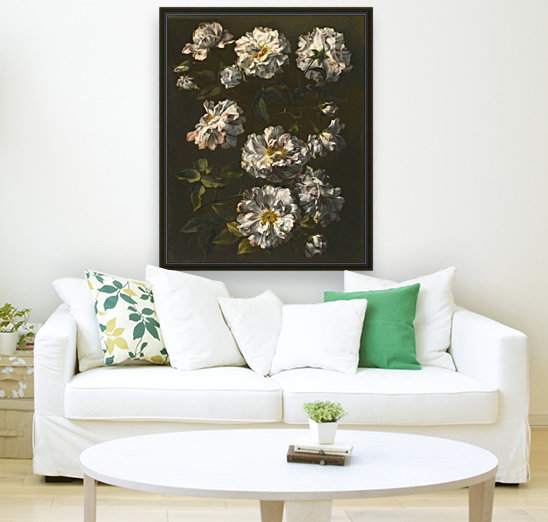 A study of striped white gallica roses  Art