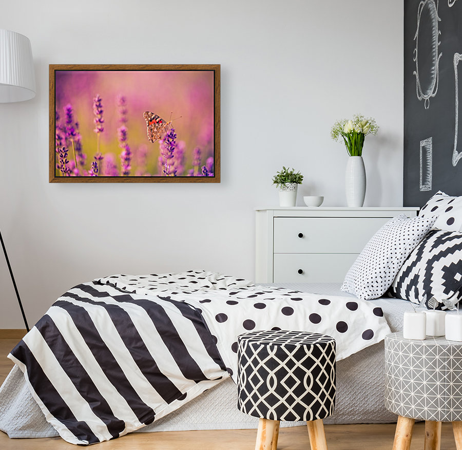Beautiful Sunset lavender flowers  Art