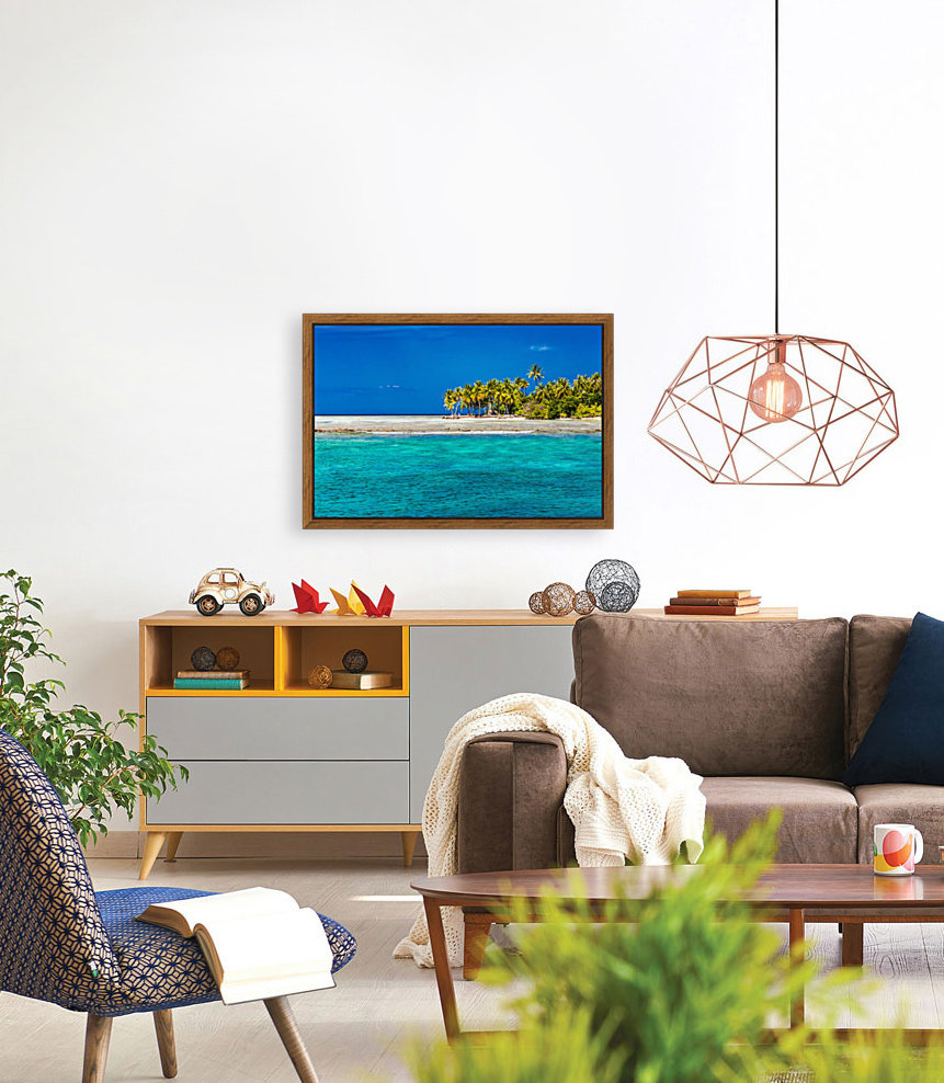 Tropical island background with Floating Frame