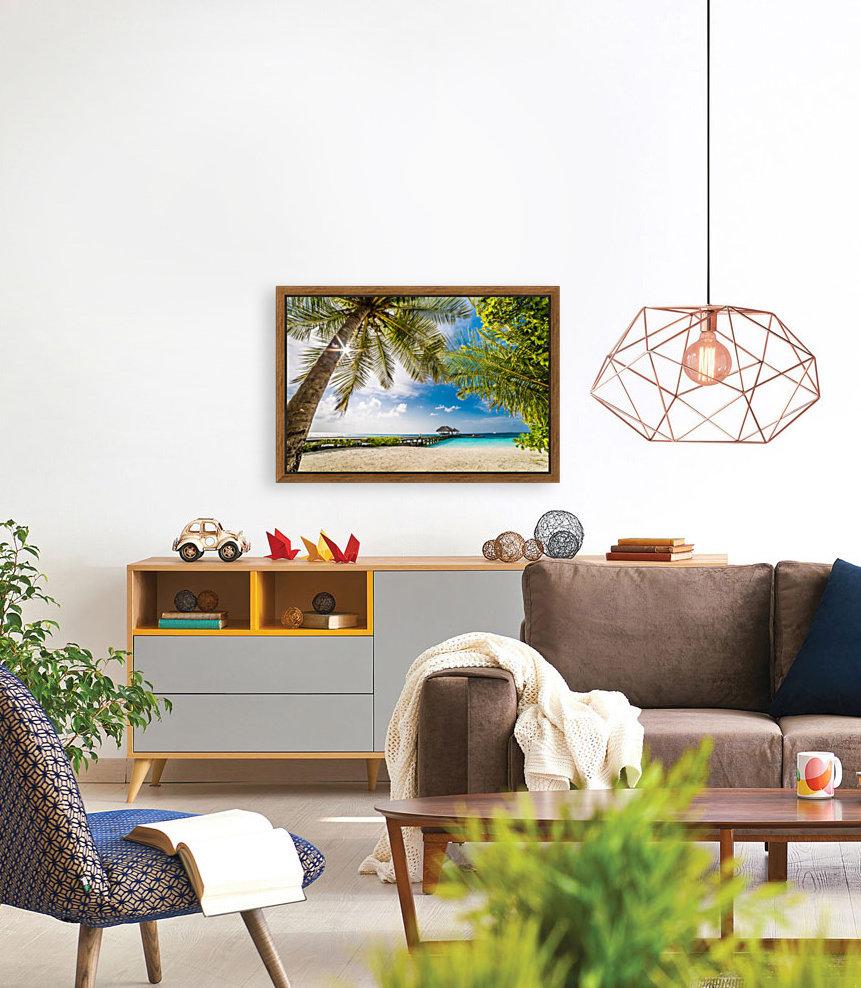 Palm and tropical beach  Art