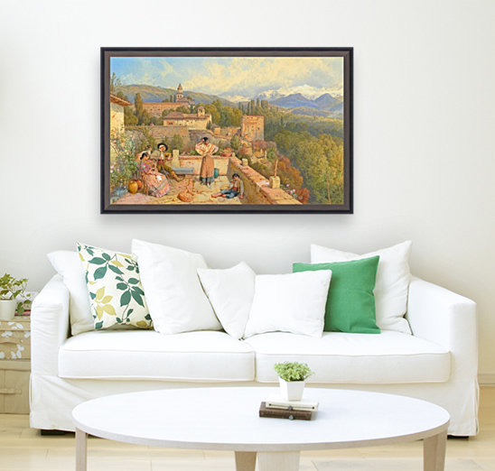 The Sierra Nevada from the Alhambra  Art