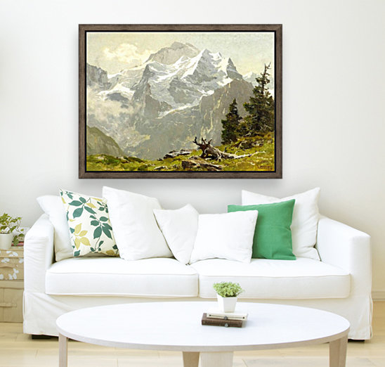 Snowcaps with Floating Frame