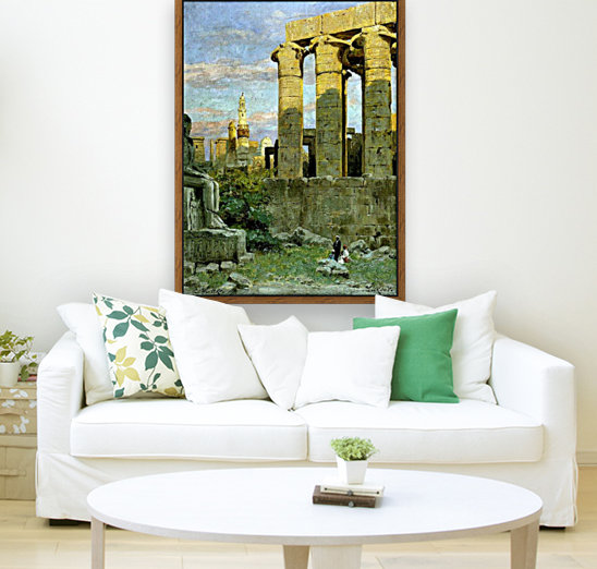 Temple of Luxor, with Abu al Haggag Mosque  Art