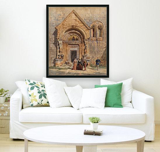Kirchenportal und Personengruppe 1842  Art