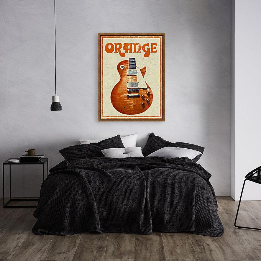 Orange vintage advertising poster  Art