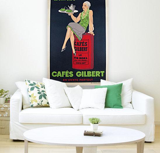 Cafes Gilbert original vintage food poster from France  Art
