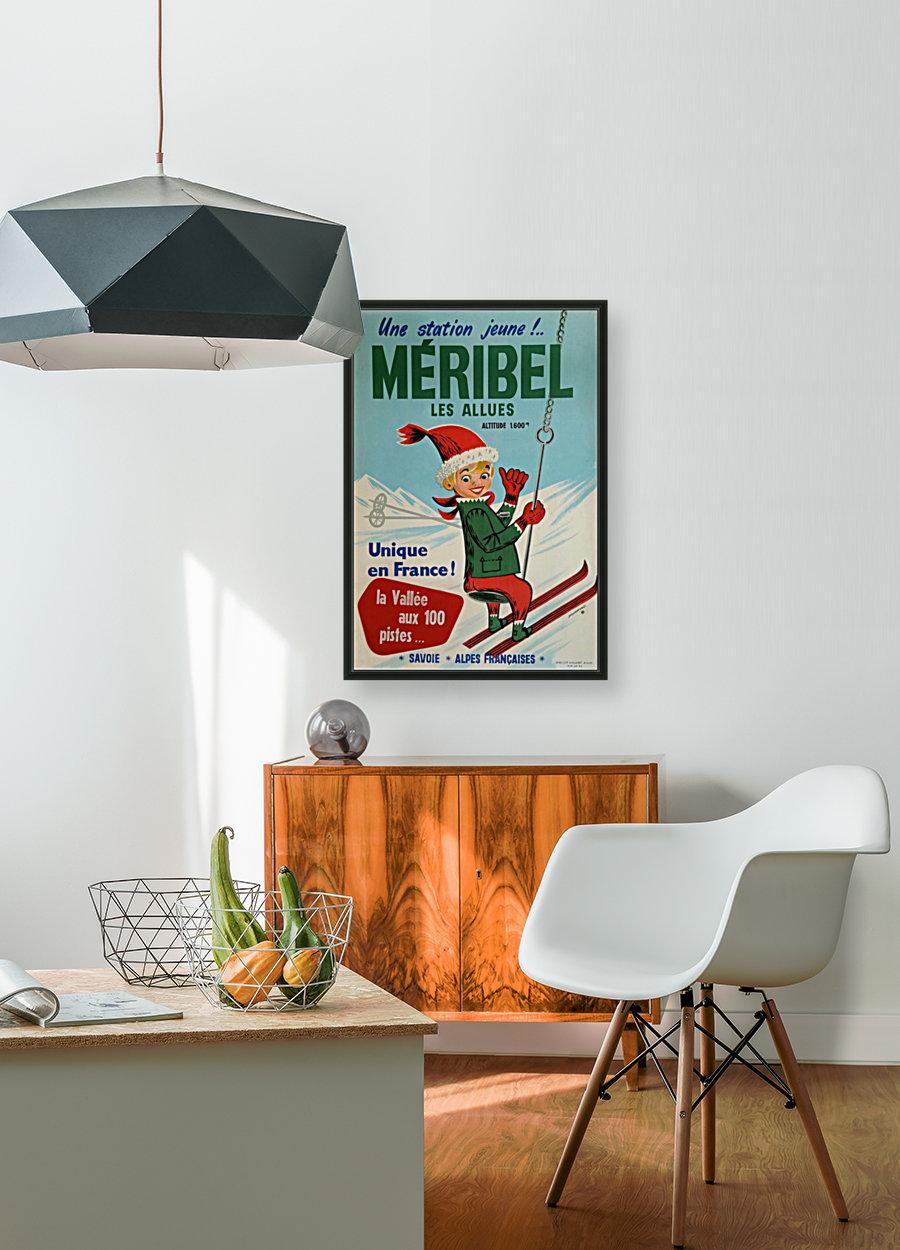 Original vintage poster ski winter sport Meribel  Art