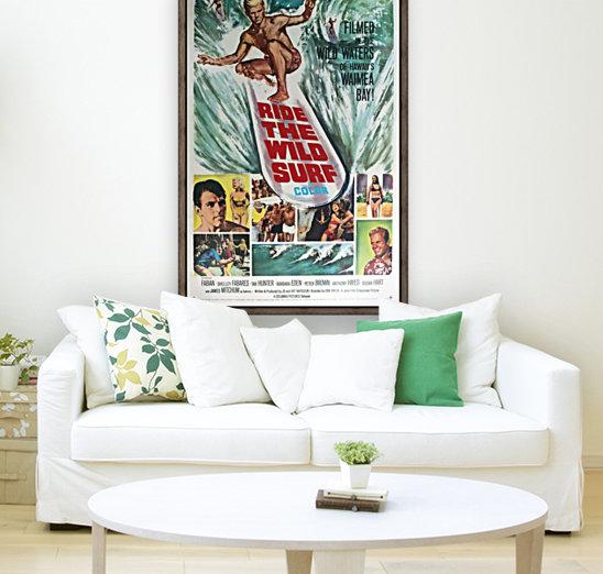 Original Vintage Surfing Movie Poster - Ride The Wild Surf  Art