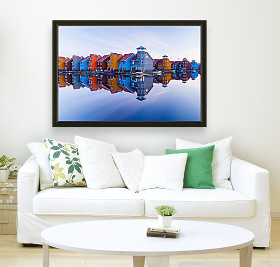 Colored homes  Art