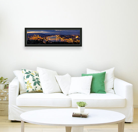 Panorama of Budapest with Floating Frame