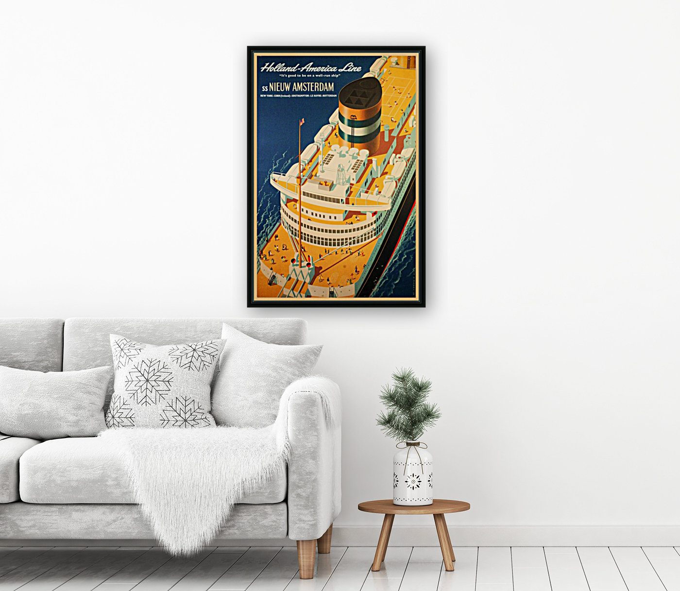 Holland - America Line vintage travel poster  Art