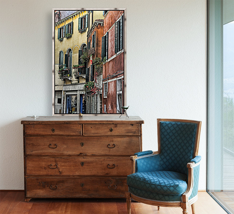 windows in Venice with Floating Frame