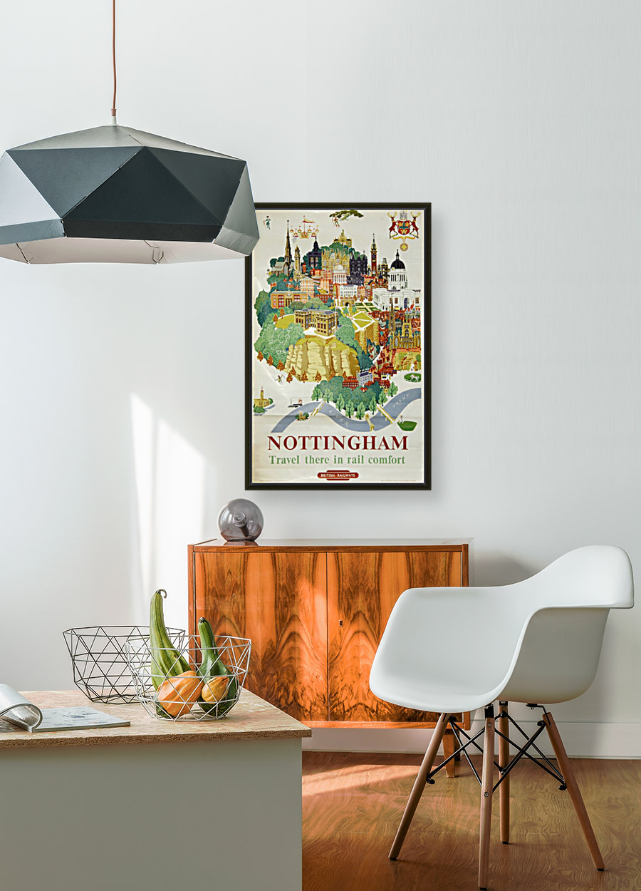 Nottingham vintage travel poster for British Railways  Art
