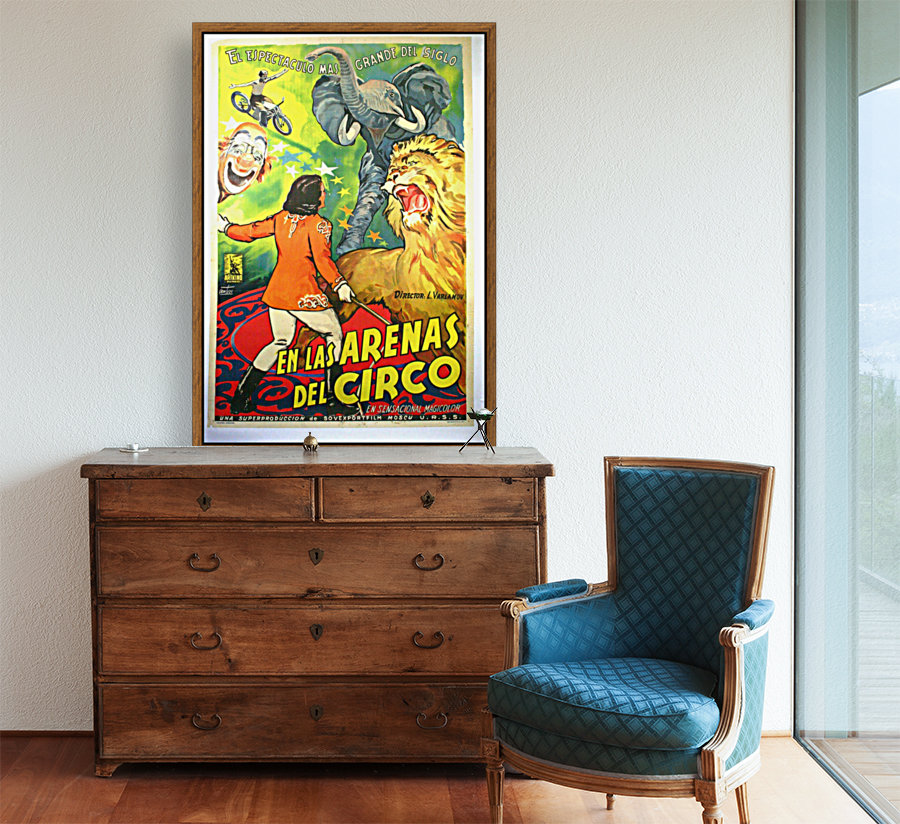 Argentinian Circus Poster with Floating Frame