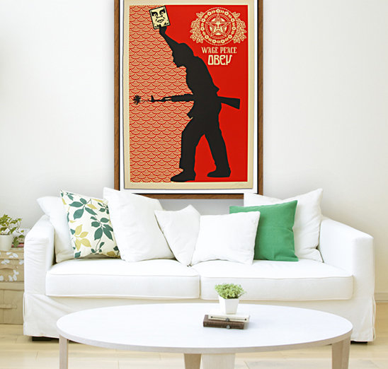 Wage Peace Obey poster  Art