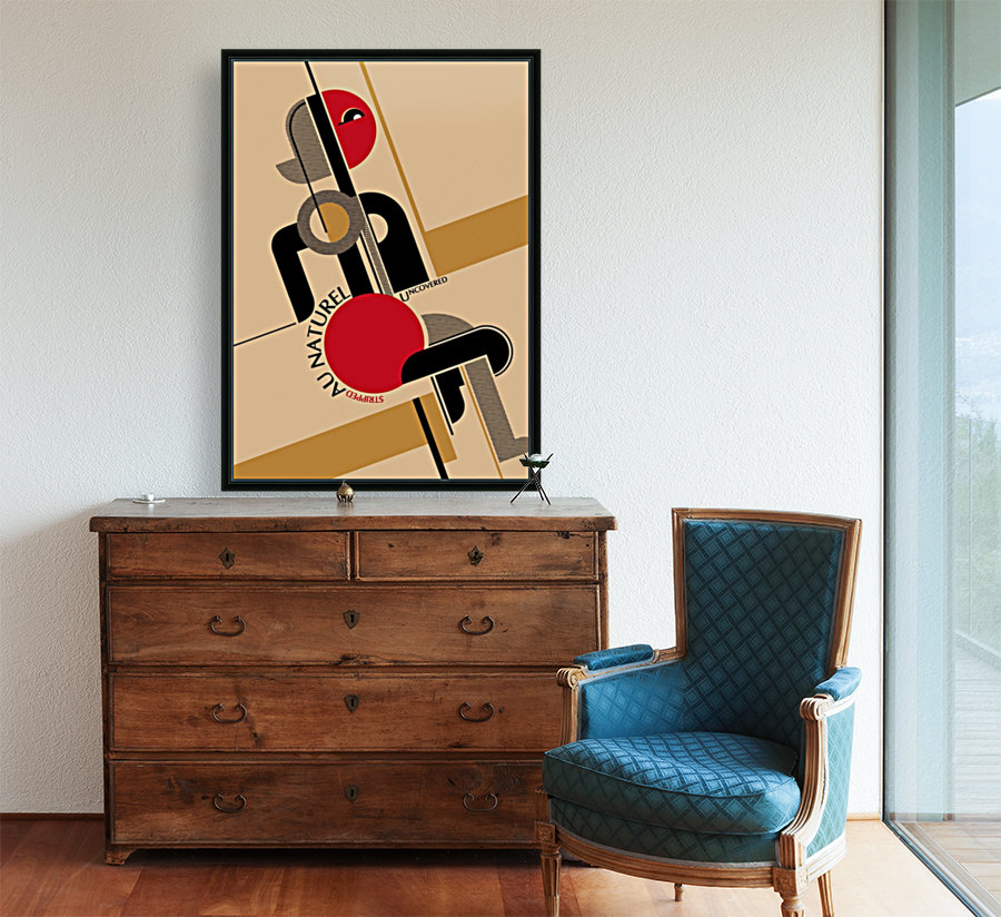 Bauhaus Nude with Floating Frame