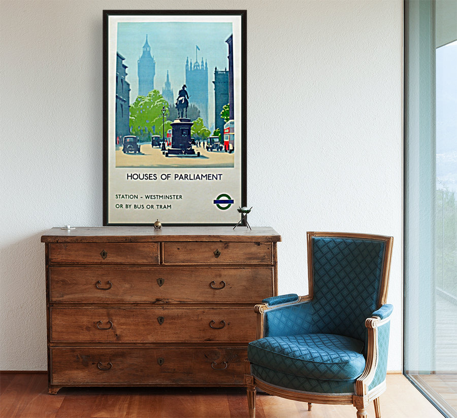 London Underground Houses of Parliament  Art