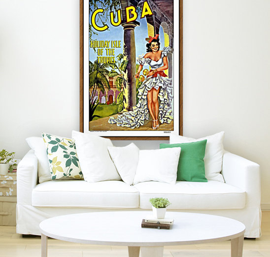 Cuba Holiday Isle of the Tropics poster  Art