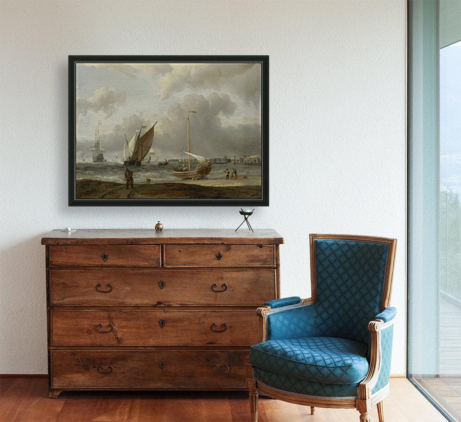 Fishing boats in storm off the Dutch Coast at Den Helder  Art