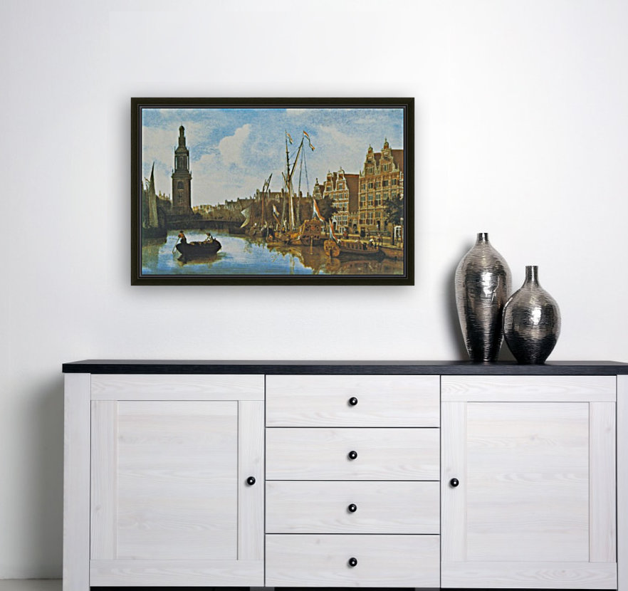 Singel in Amsterdam with the Jan Roodenpoortstoren  Art