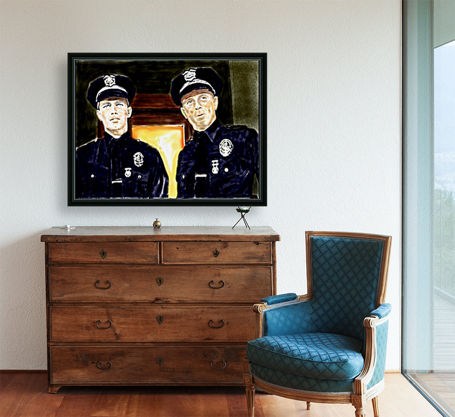 Cops  by J Gregory with Floating Frame