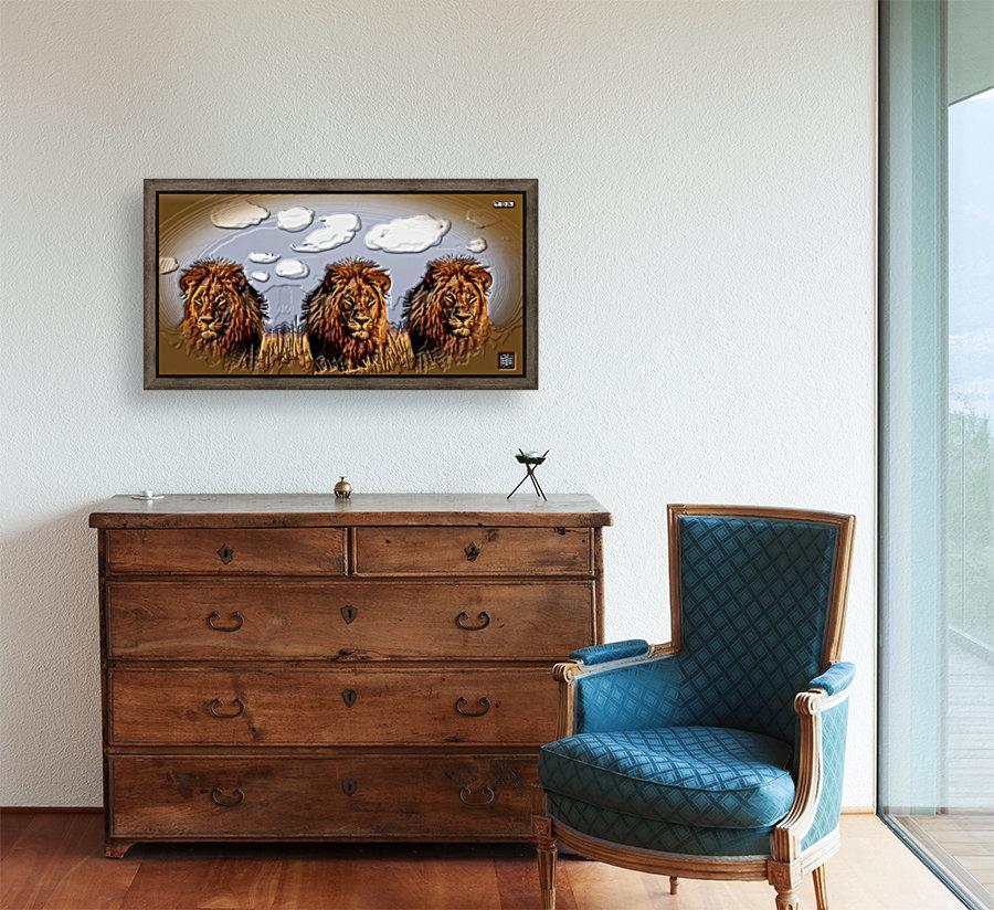 art   lion 3D  A  Art