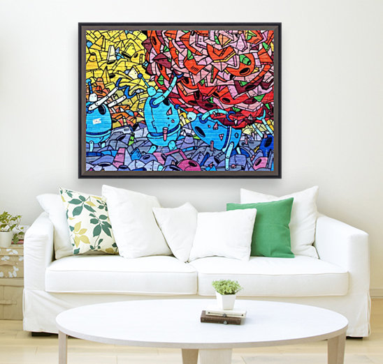 graffiti 569265 with Floating Frame