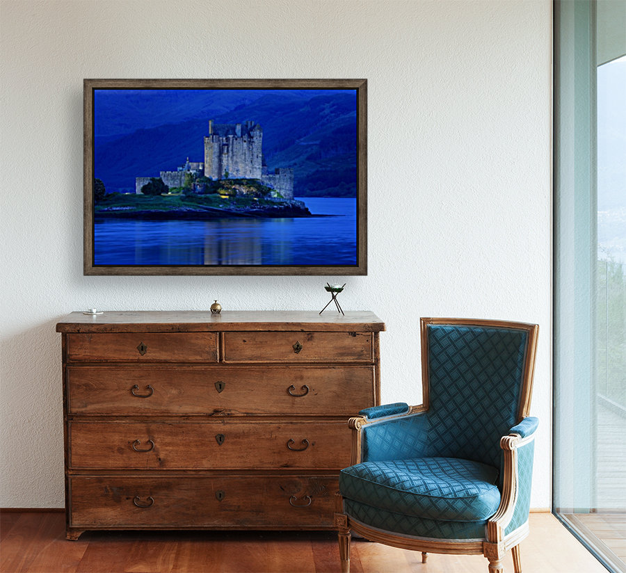 Eilean Donan Castle In Scotland with Floating Frame
