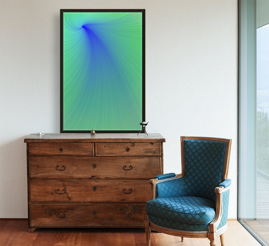 Blue And Green Abstract  Art