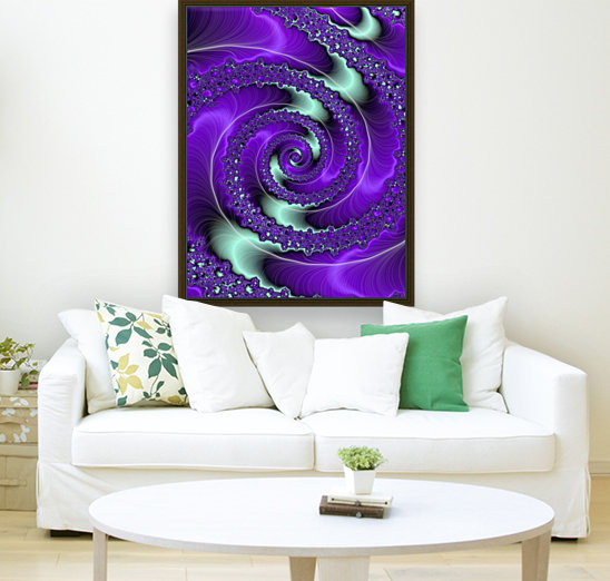 Purple Vortex with Floating Frame
