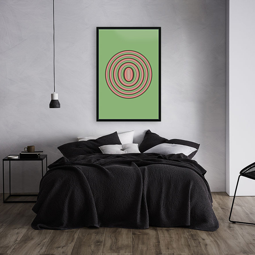 Concentric Circles with Floating Frame