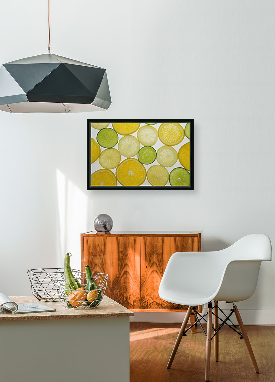 Citrus Slices with Floating Frame