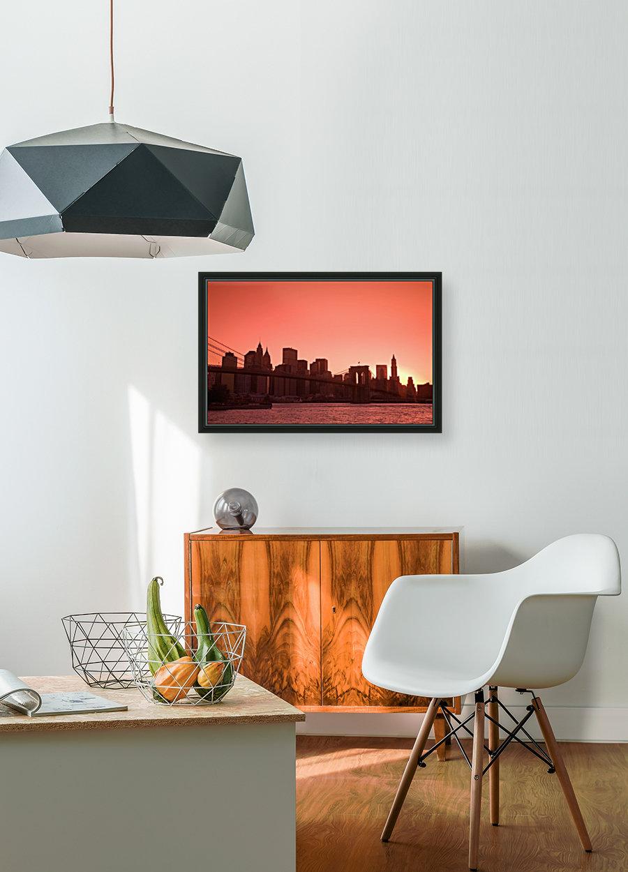 Lower Manhattan Skyline Viewed From Brooklyn Bridge Park, Brooklyn, New York City, New York, Usa  Art
