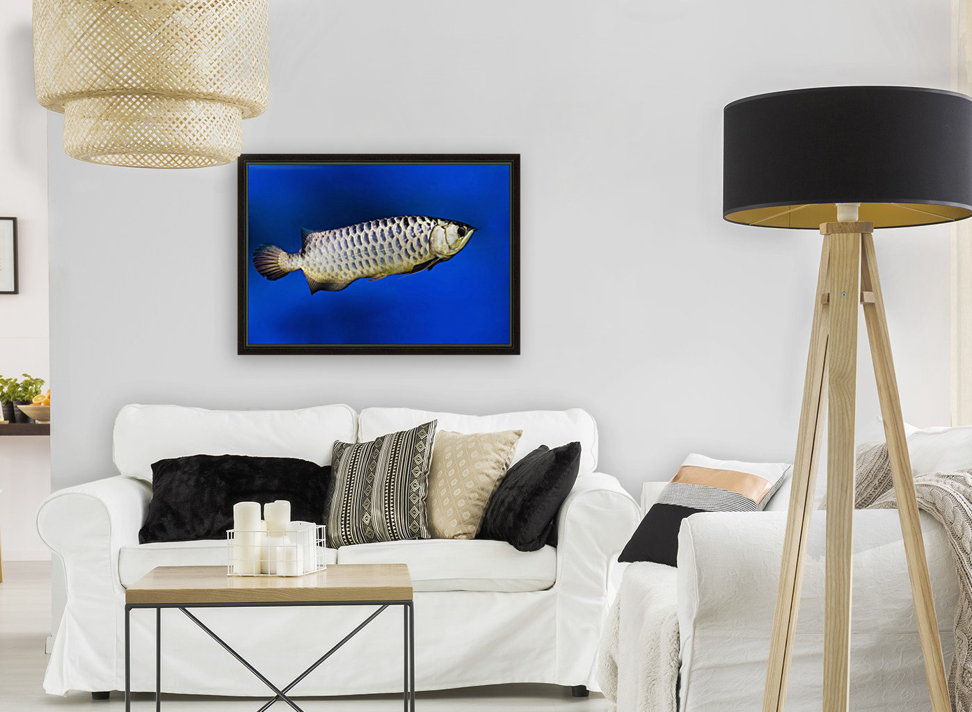 Fish with Floating Frame