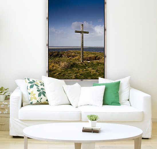 Grave Site Marked By A Cross On A Hill  Art