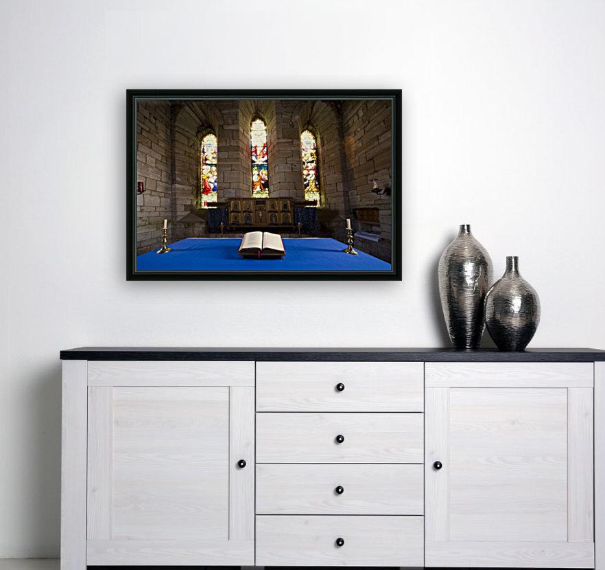 Church And Open Bible, Holy Island, Bewick, England  Art