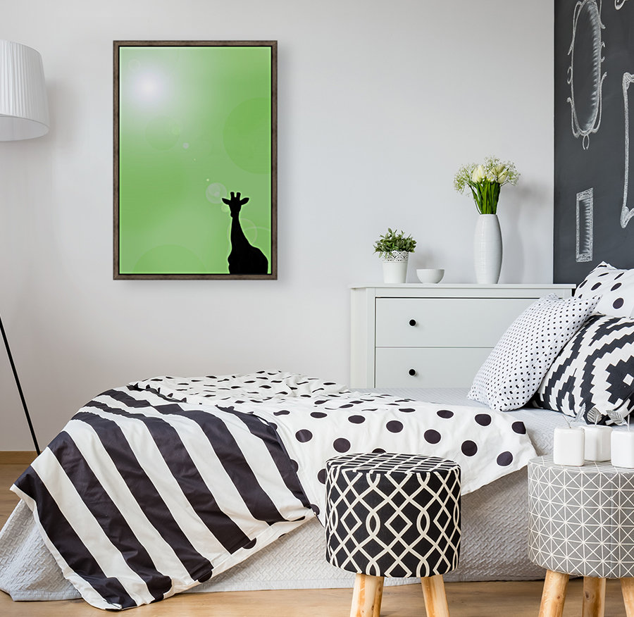 Silhouette Of A Giraffe  Art