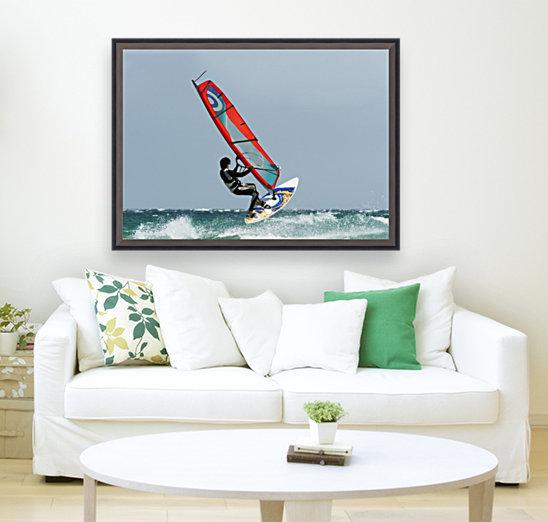 A Windsurfer In The Water; Tarifa, Cadiz, Andalusia, Spain  Art